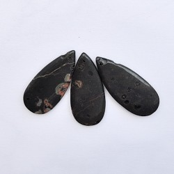 Oolitic jasper flat teardrop, 46x20x4,5mm