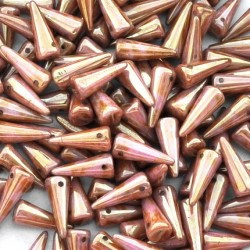 Mărgele Spikes 5/13mm. AK02010 luster-opaque rose/gold topaz